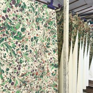 Image of Pattern #13 'Floral Botanical' marbled paper