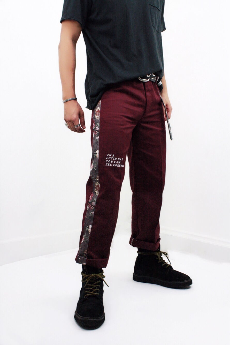 Image of 777 PANTS (REDWINE)