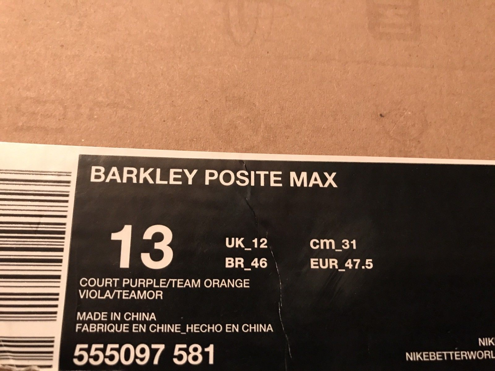 Image of Nike Air Barkley Posite Max Chuckposite Phoenix Suns - Size 13 - Used One Time