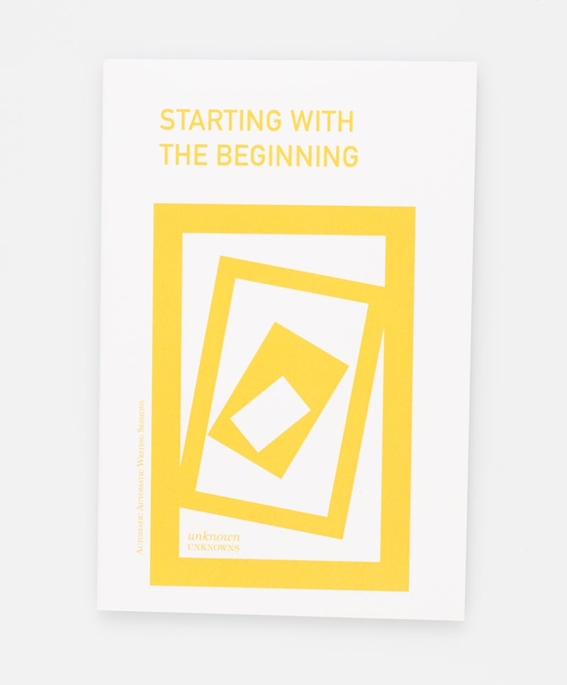 Image of Starting with the Beginning