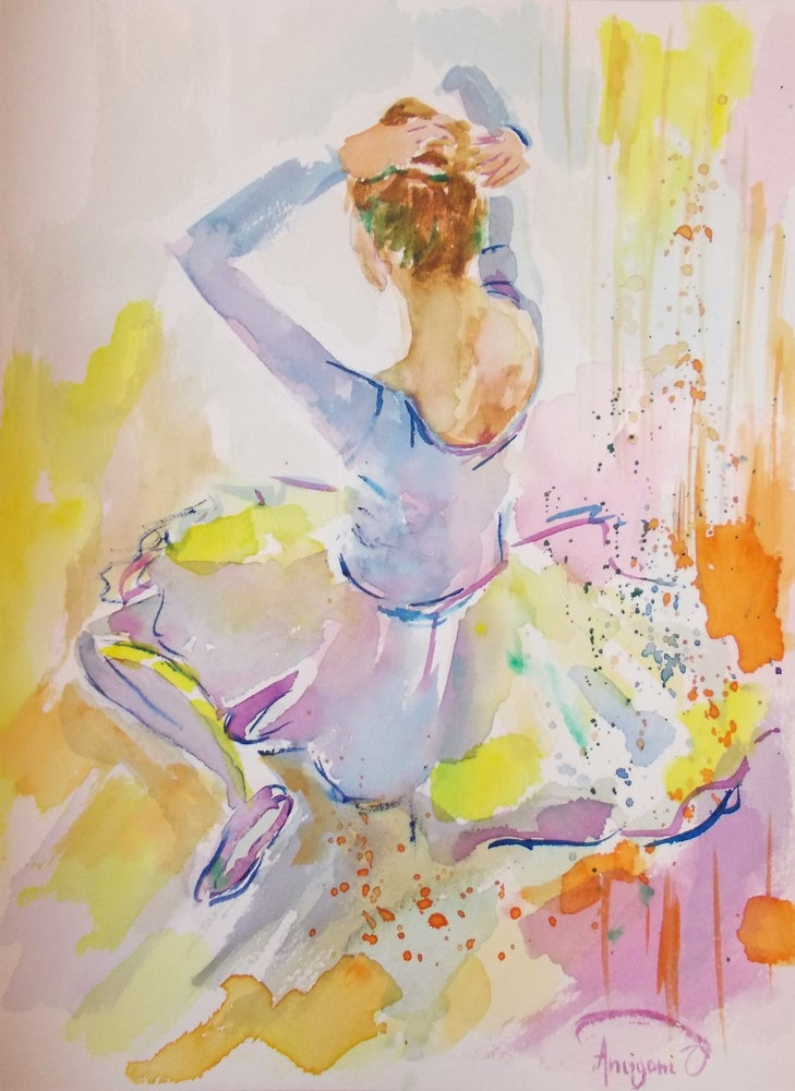Image of Colorful ballerina