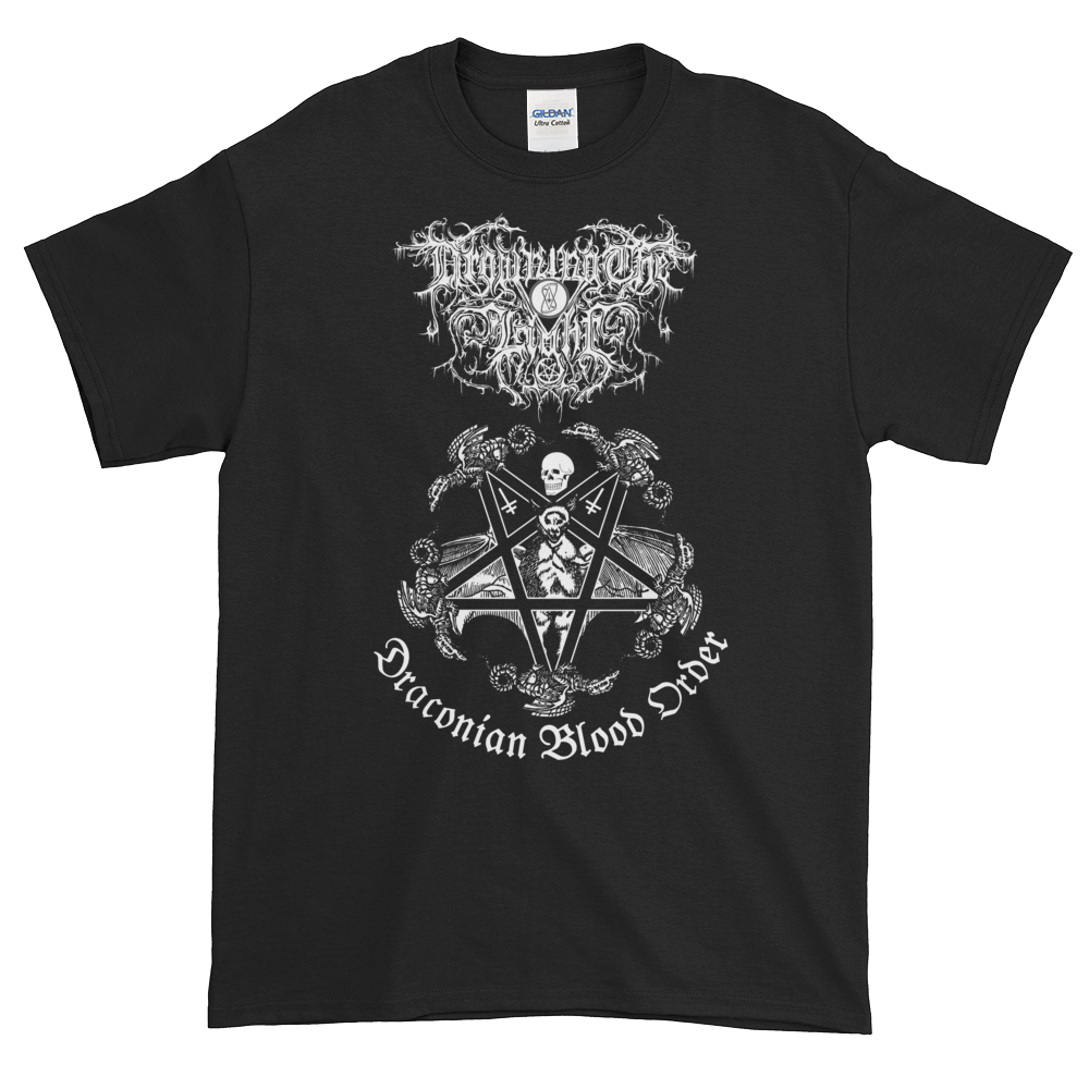 """Image of Drowning the Light - """"Draconian Blood Order"""" shirt"""