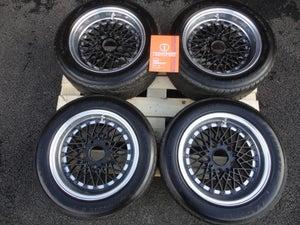 "Image of Genuine SSR (Speed Star Racing) Formula Mesh Reverse 15"" 5x130 3-Piece Split Rim Alloy Wheels"