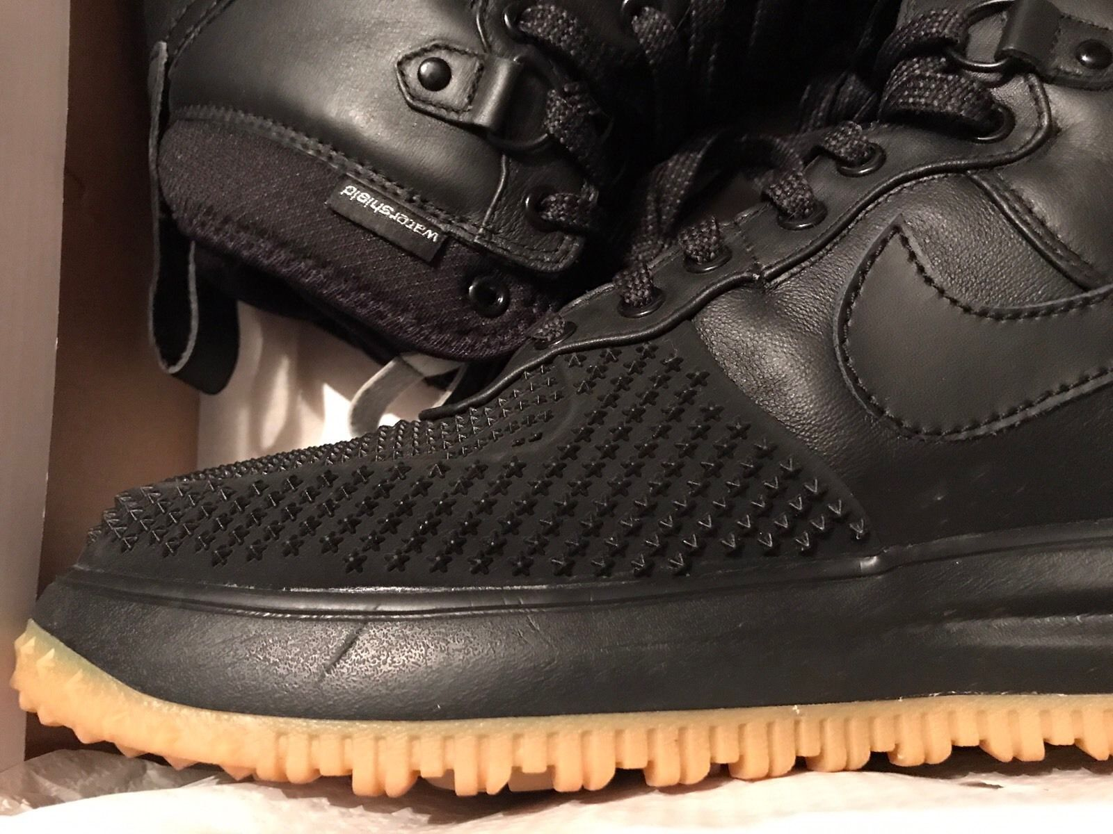 Image of Nike-Lunar-Force-1-Duckboot-Mens-Sz-13-Black-Metallic-Silver-Anth-Black-Used