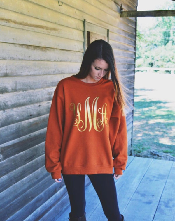 Image of Large Monogram Sweatshirt (Gildan)