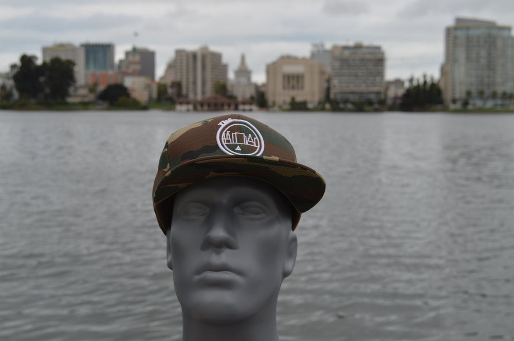 Image of The O Camouflage Snap-back Cap