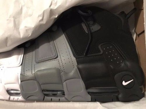 Image of Nike Men's Air More Uptempo '96 Shoes Black/Black/Cool-Grey/White 921948-002 NEW