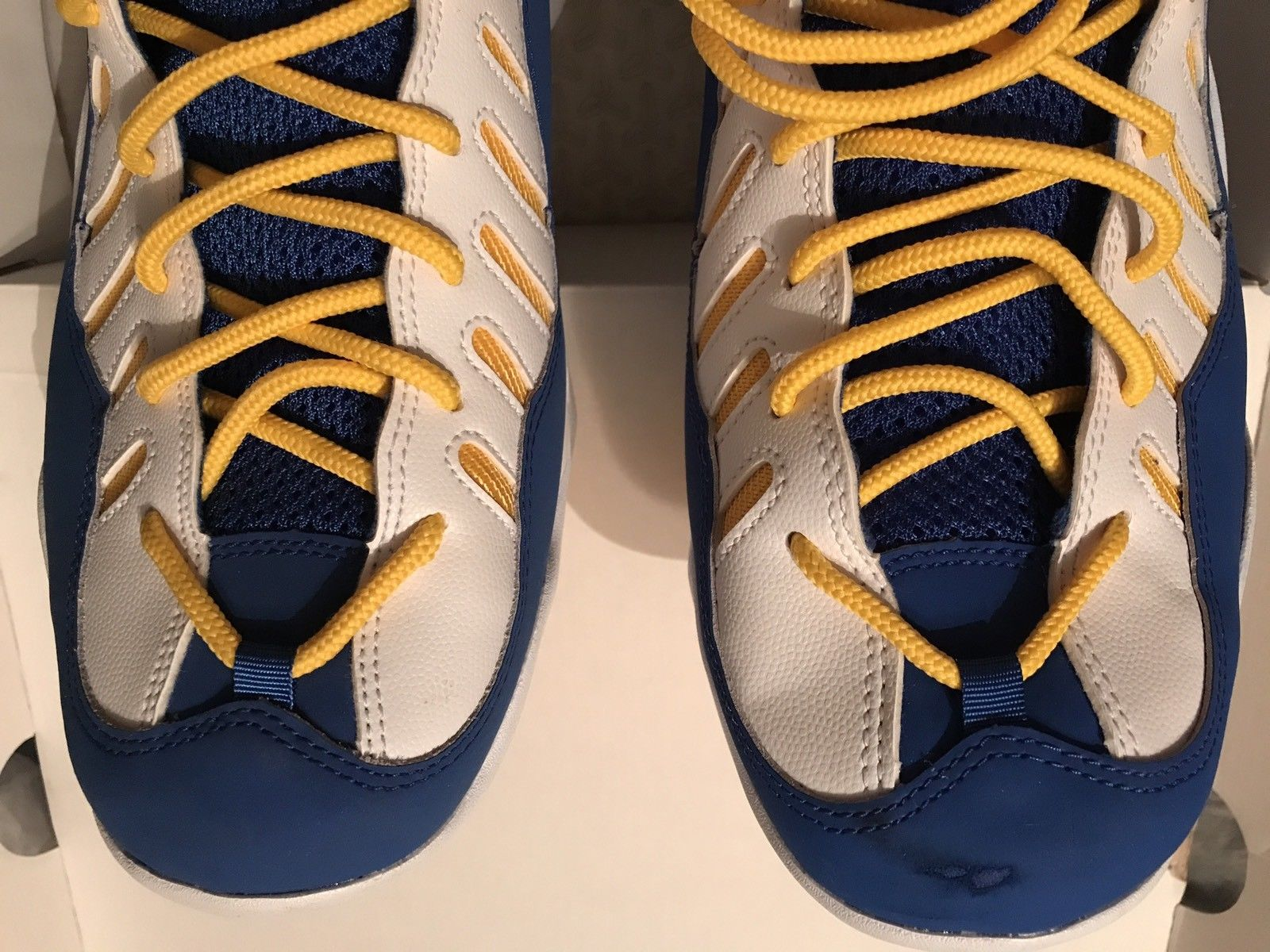 Image of Nike Air Bakin' Basketball Blue Maize Yellow White Sz.13 - Rare Exclusive New