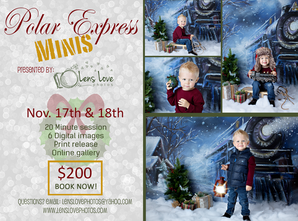 Image of Polar Express Studio Mini Session