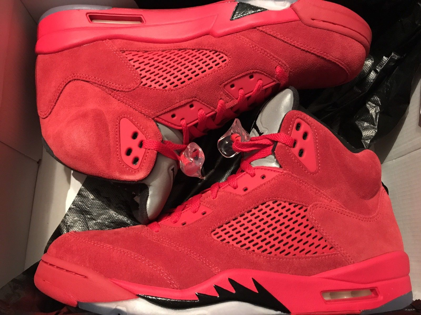 "Image of AIR JORDAN 5 RETRO ""RED SUEDE"" Sz 13 New DS"