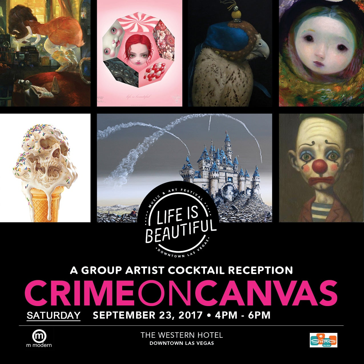 Image of Artists Participating in <br>Crime on Canvas 2017 <br>at Life is Beautiful Music & Art Festival