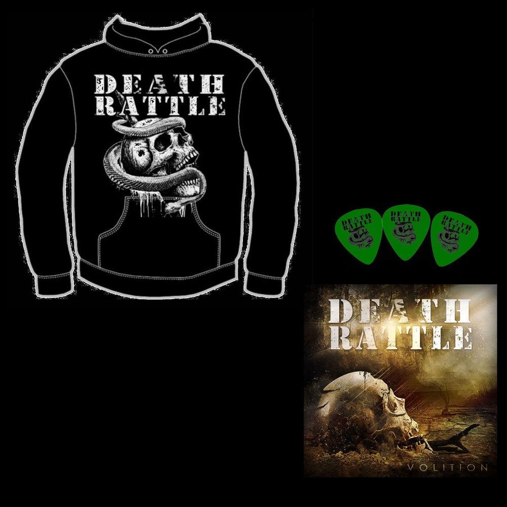Image of Death Rattle - Volition Hoodie Bundle