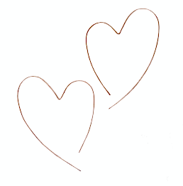 Image of big open heart hoops