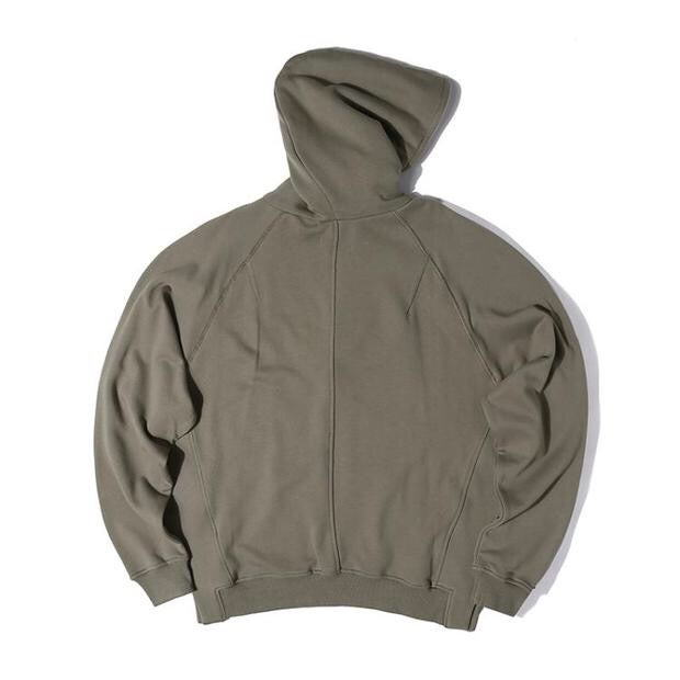 Image of Army Green Half Zip Fleece Hoodie