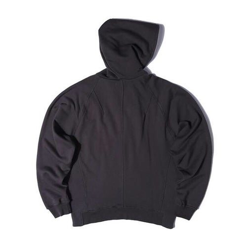Image of Dark Grey Half Zip Fleece Hoodie