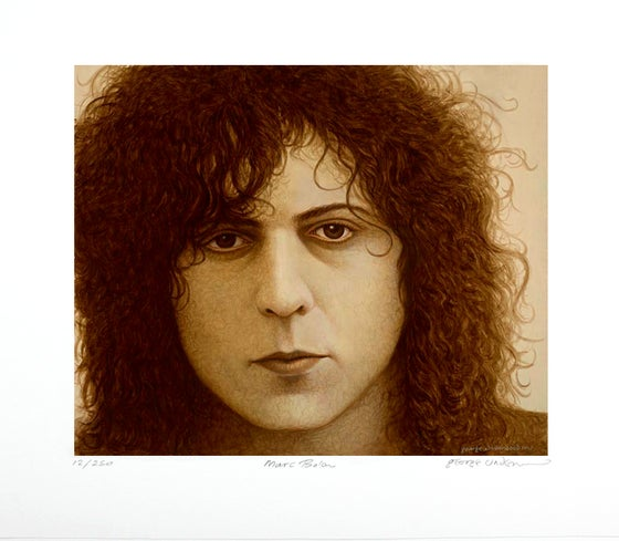 Image of **EXCLUSIVE** George Underwood Signed Limited Edition Marc Bolan 2017 Art Print