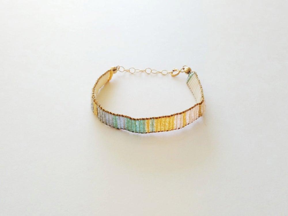 Image of Wide prism woven bracelet