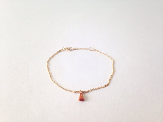 Image of Petite tassel bracelet - burnt orange