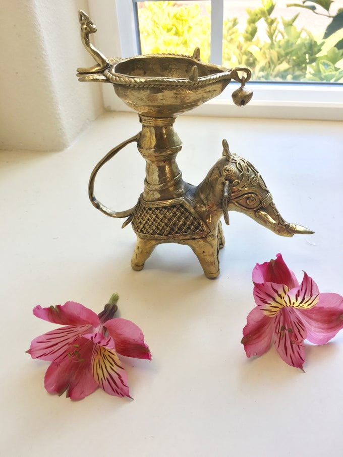 Image of Tribal Elephant diya