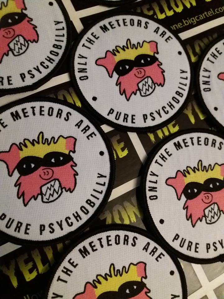 Image of Woven Only The Meteors Are Pure Psychobilly Mad Pig Patch