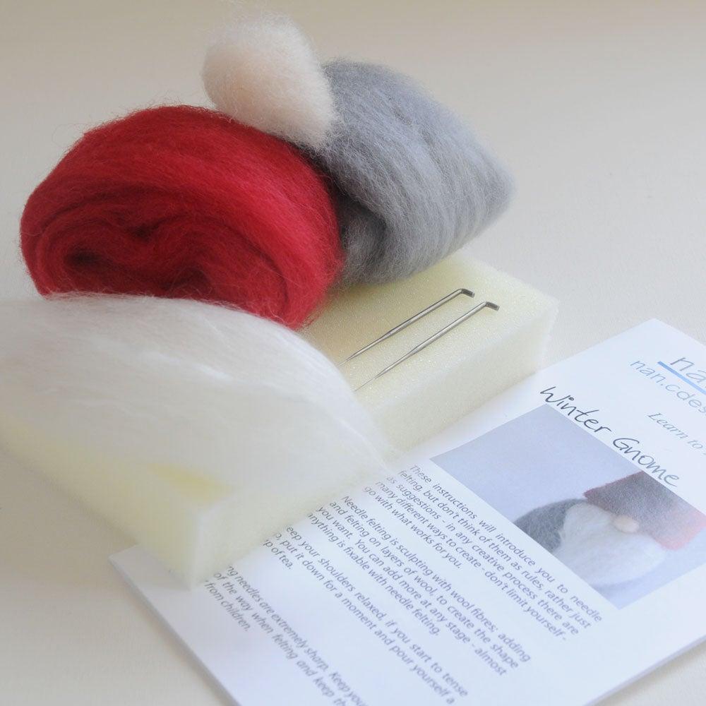 Image of Winter Gnome - Needle Felting Kit