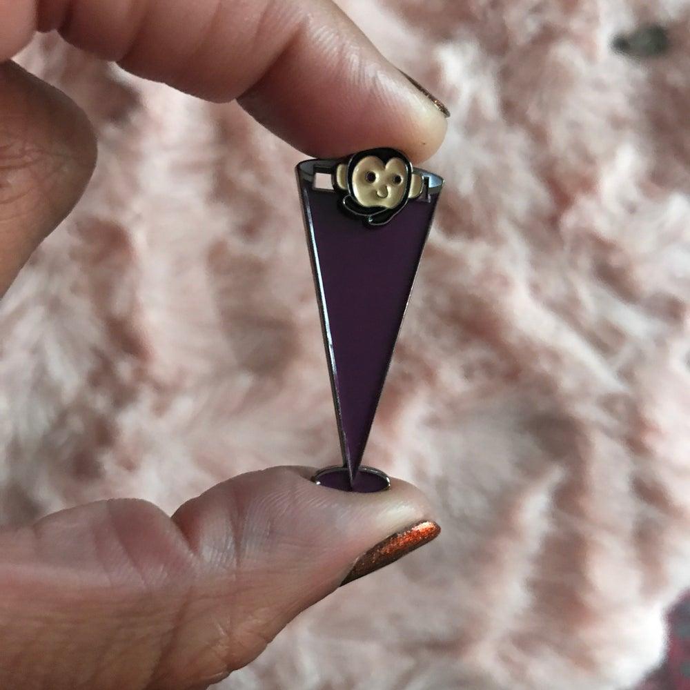 Image of SLIDING MONKEY PUPPET PIN