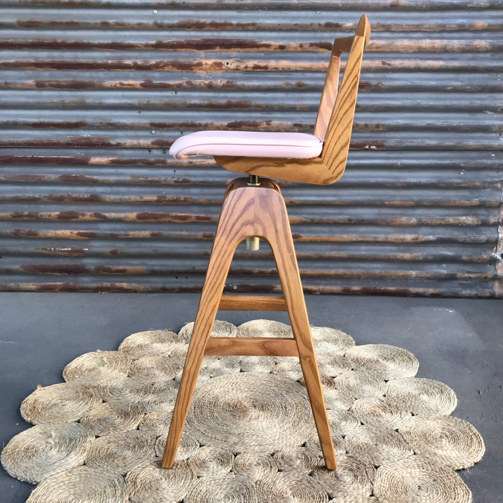 Image of TH Brown Re-release Danish Bar stool ~ Light Ash ~