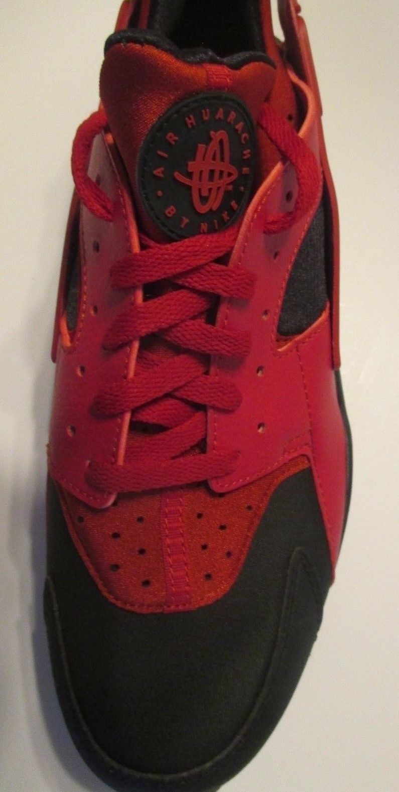 Image of NIKE Air Huarache - Love Hate Running Shoes Red Black 704830 006 - Size 13 - New