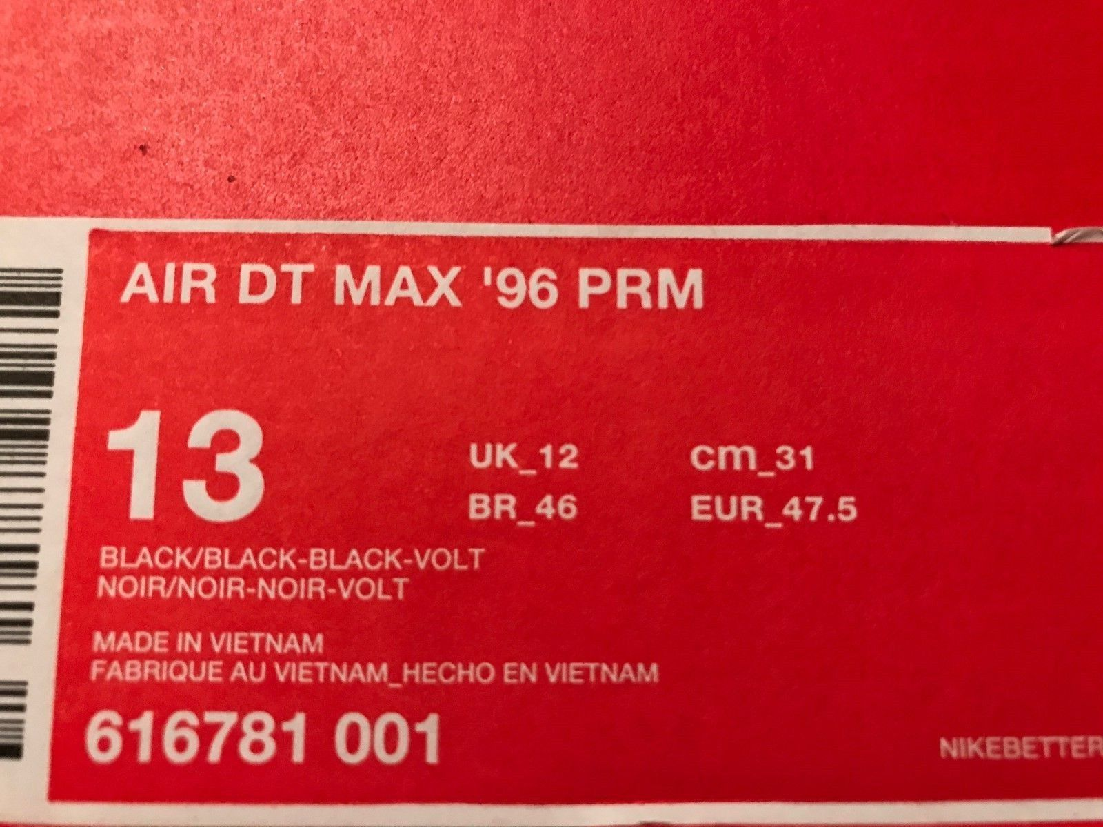 Image of NIKE Air DT Max 96 PRM Snakeskin 3M Men's Shoes Size 13 - (DS) New