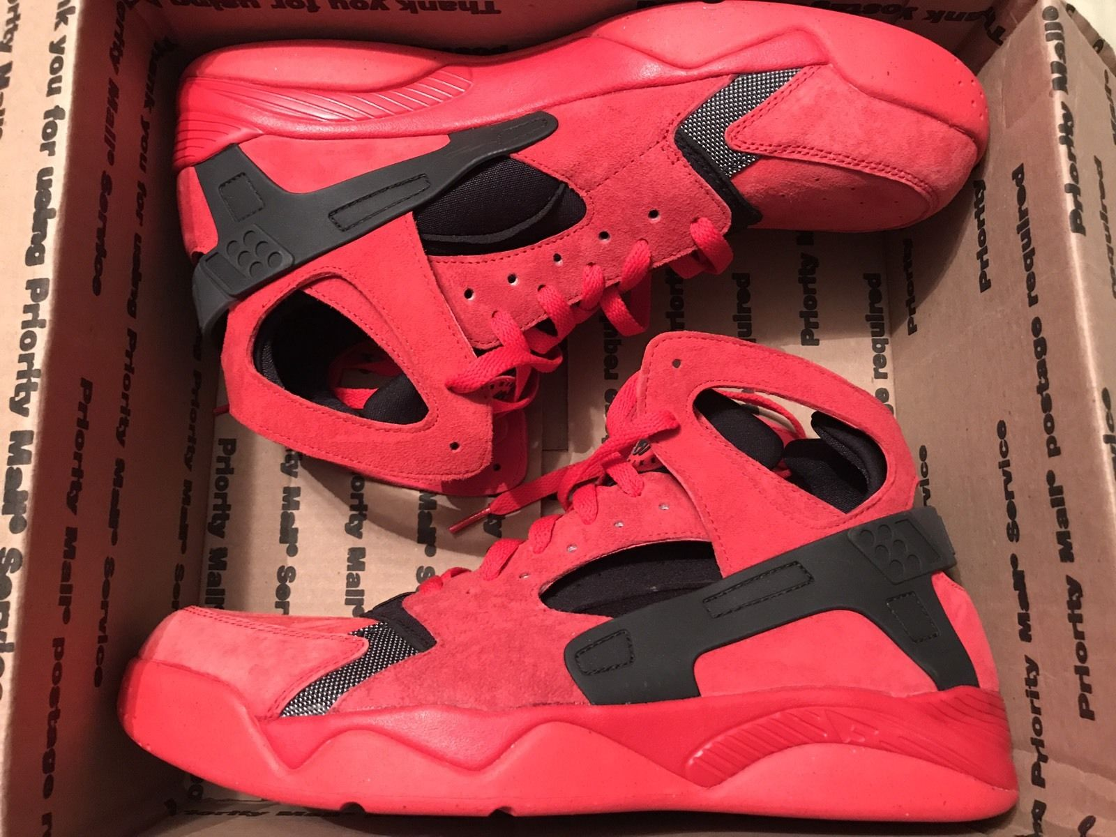Image of Nike Air Flight Huarache - Red Love Hate - Size 13 - Red Suede - New