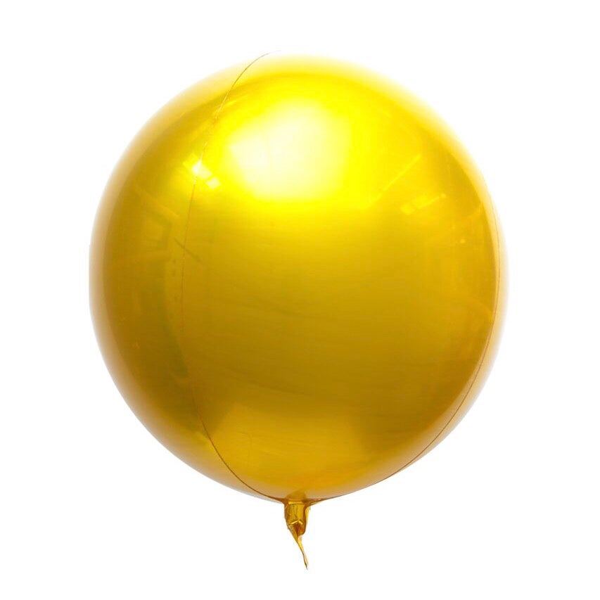 Image of Mylar Orb Gold Balloon