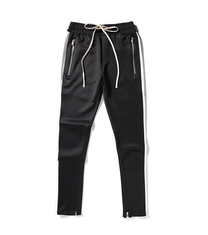 Image of Night Grind black/white track pants