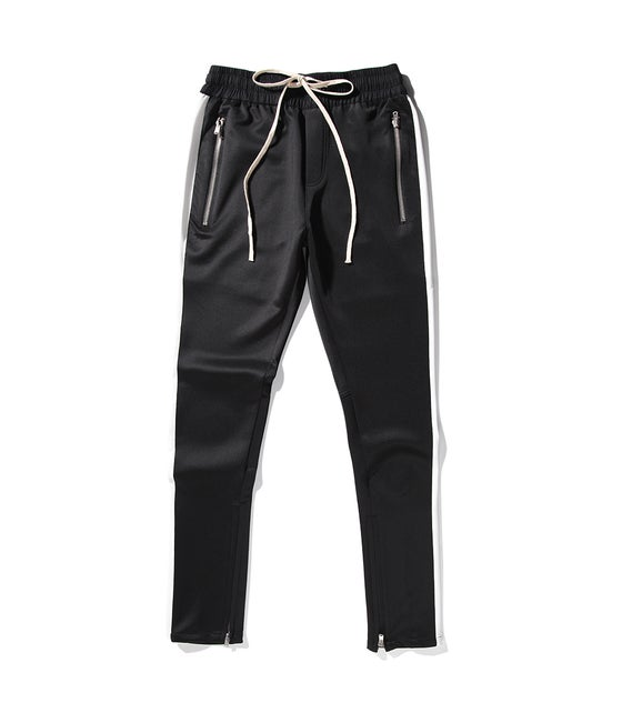Image of Night Grind black/white track pants