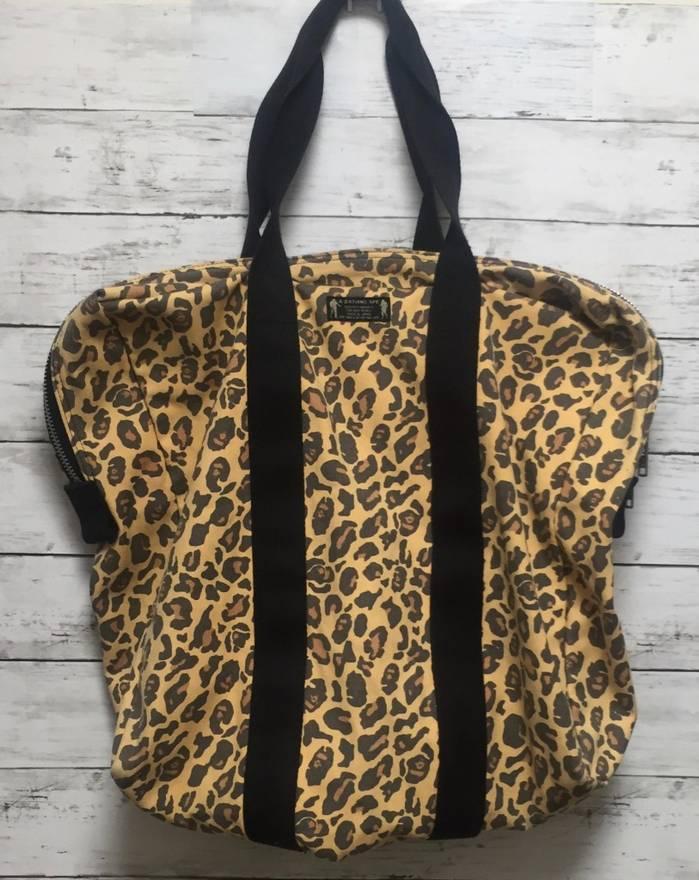 Image of Bape Leopard Camo Print Zip Tote Bag
