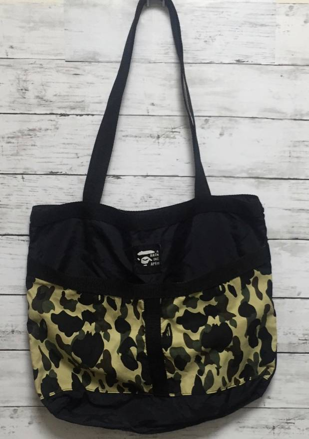 Image of Bape Yellow Camo Tote Bag