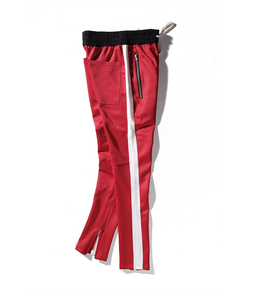 Image of Night Grind Red/white track pants