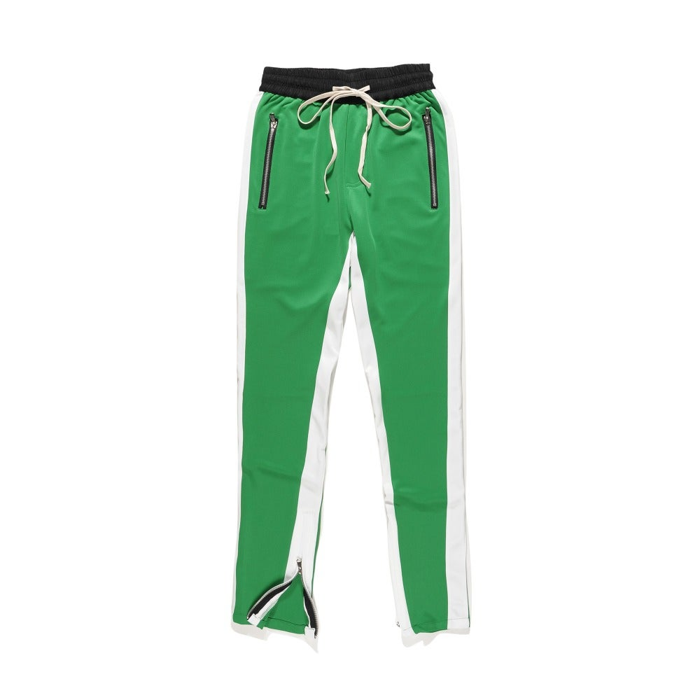 Image of Night Grind Green/white track pants