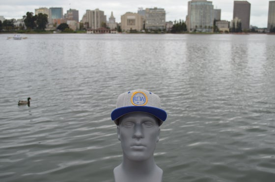 Image of The O Heather Grey / Royal Blue Snap-back