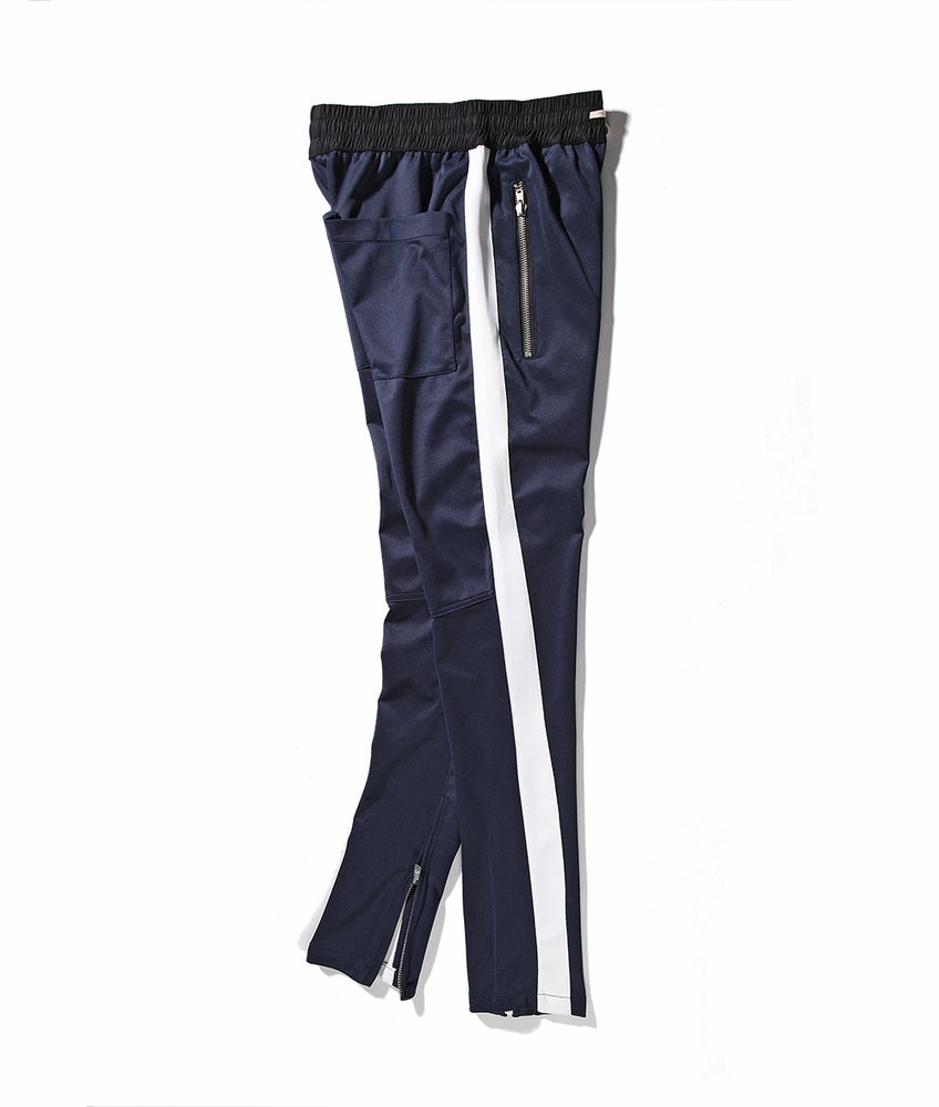 Image of Night Grind Navy/white trackpants