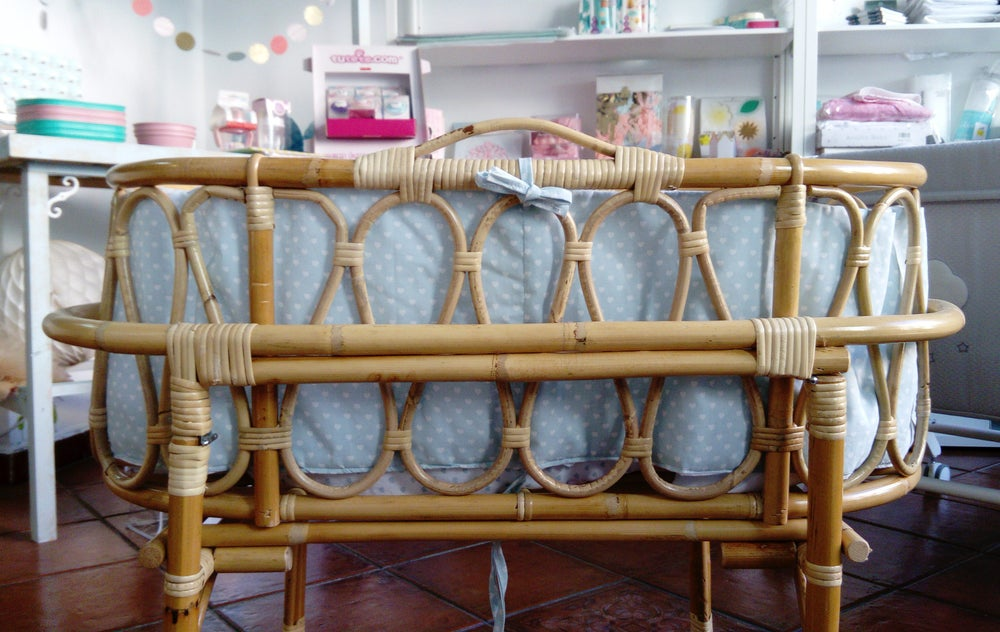 """Image of Cuco-capazo de caña de bambú """"Lovely"""""""