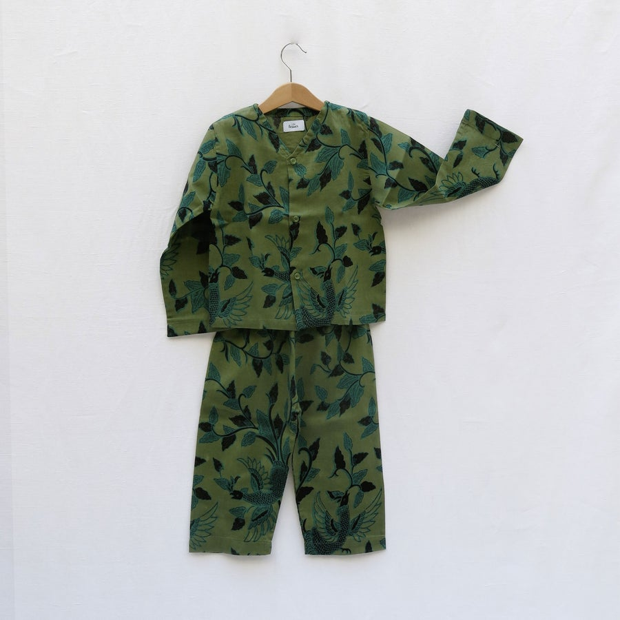 Image of PYJAMA TIDUR - green jungle -