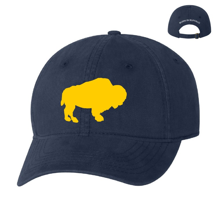 Image of Blue (ROYAL or NAVY) Hat w/ Gold or Zubaz Buffalo