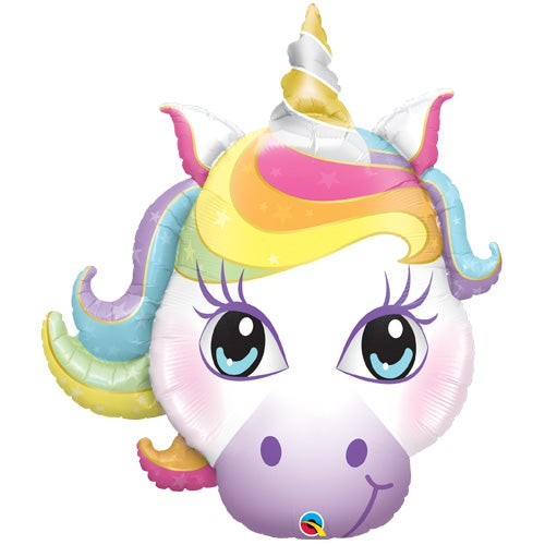 Image of {Pastel Magical Unicorn} Mylar Balloon