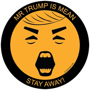 Image of Mr. Trump is Mean! - Set of 10 Stickers