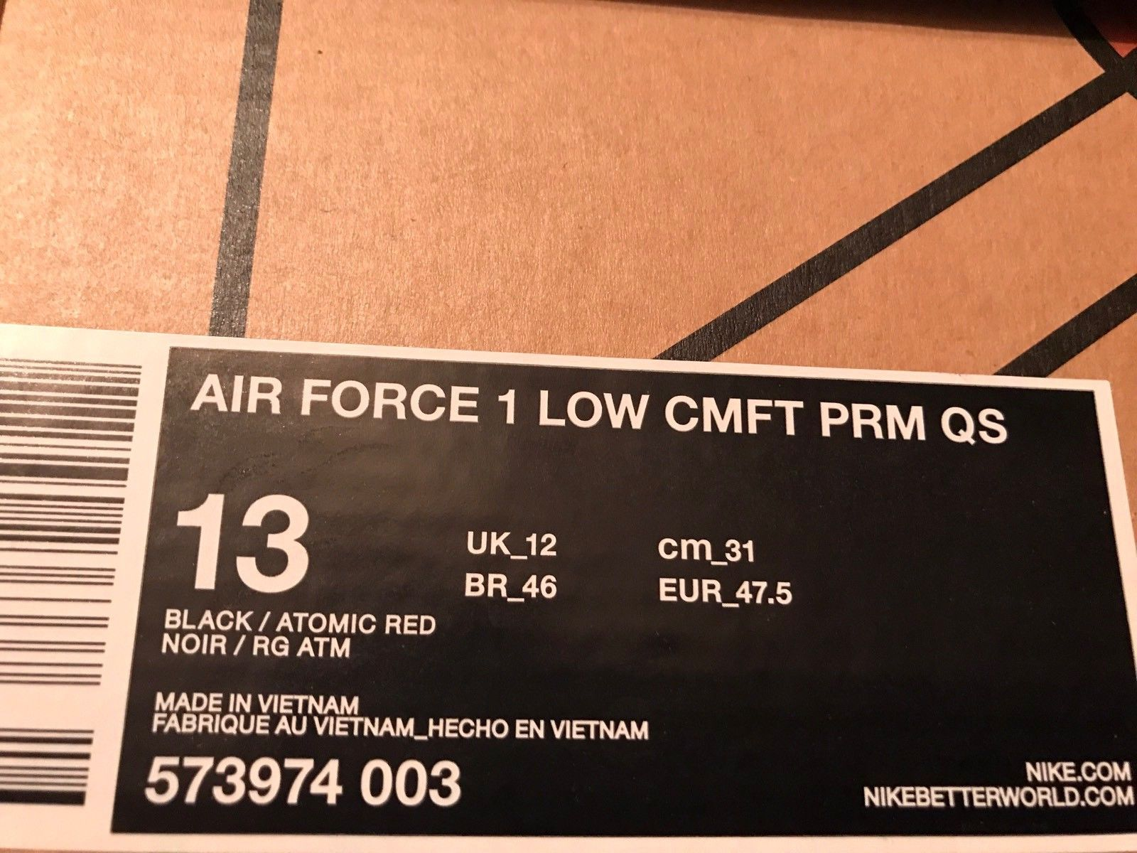 Image of NIKE AIR FORCE 1 CMFT PRM GUMBO ALL STAR EDITION SIZE 13 BANNED BOOST NEW
