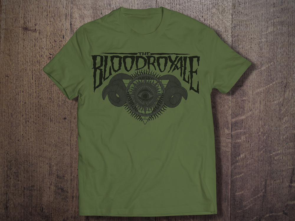 Image of Black on Green Logo Shirt