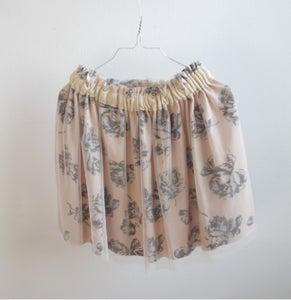 Image of Tulle Skirt-cream flowers