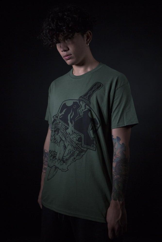 "Image of ""Machete Classic Logo"" T-shirt military green"
