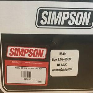 Image of Brand new Simpson M30 Bandit Helmet