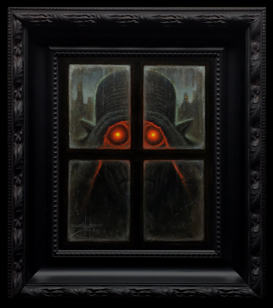 "Image of ""The Peeper"" <br>Original Painting <br>by Chet Zar"